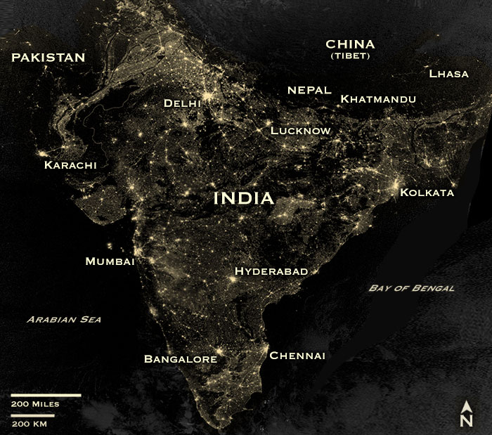 nasa releases map of india on diwali night - photo #13