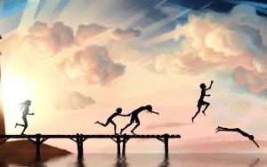 Childhood-Life-is-Beautiful-Art-Wallpaper