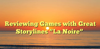 "Reviewing Games with Great Storylines ""La Noire"""