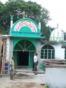 The entrance to the Dargah which is still under construction.