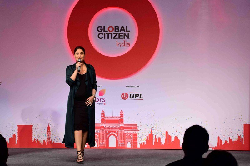 Bollywood actor Kareena Kapoor during the press conference to launch of Global Citizen Festival of India hosted by Global Education and Leadership foundation in Mumbai, India on September 12, 2016. (Sanket Shinde/ SOLARIS IMAGES)