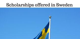 Scholarships offered in Sweden