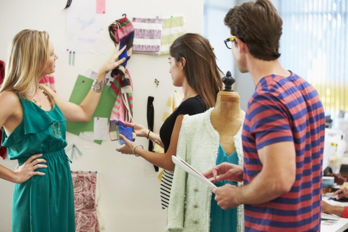 Meeting In Fashion Design Studio
