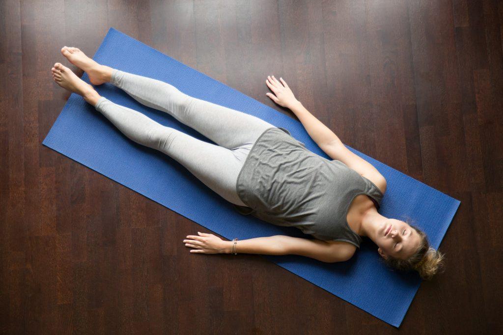 Yoga at home: resting posture