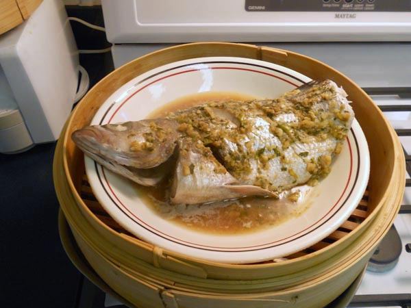 Bamboo steamed fish