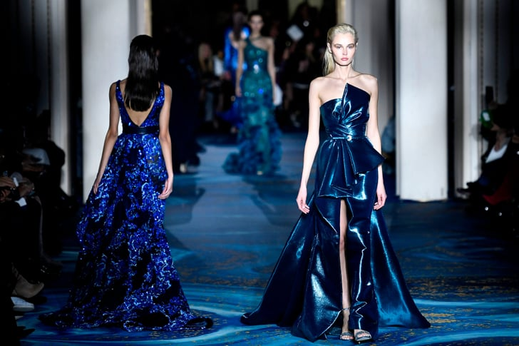 Haute couture blue