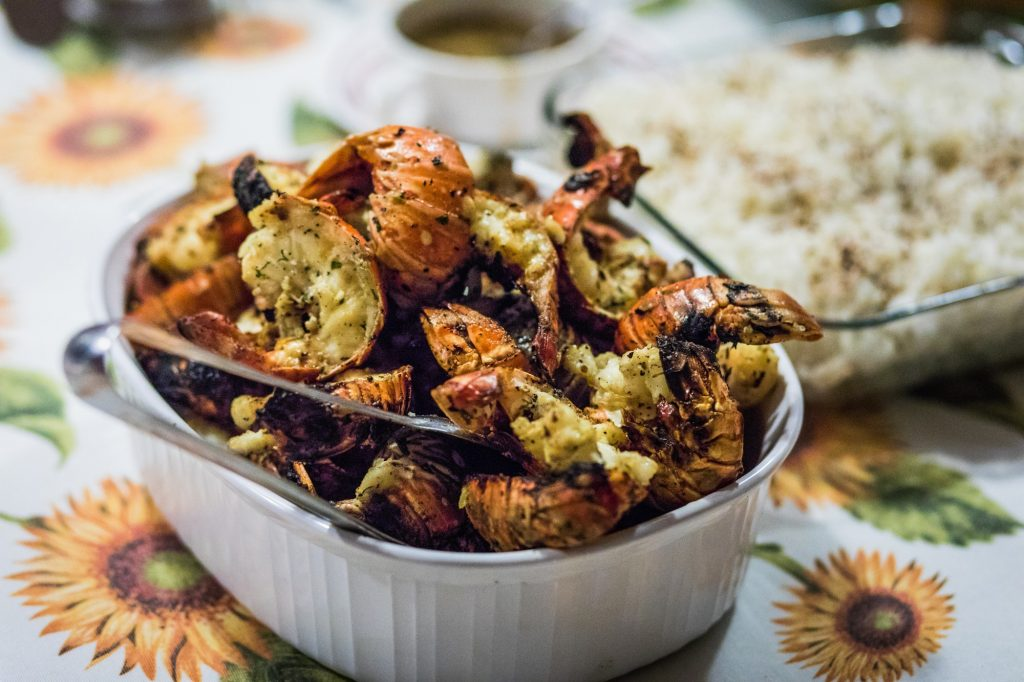 Grilled Scampi on the BBQ