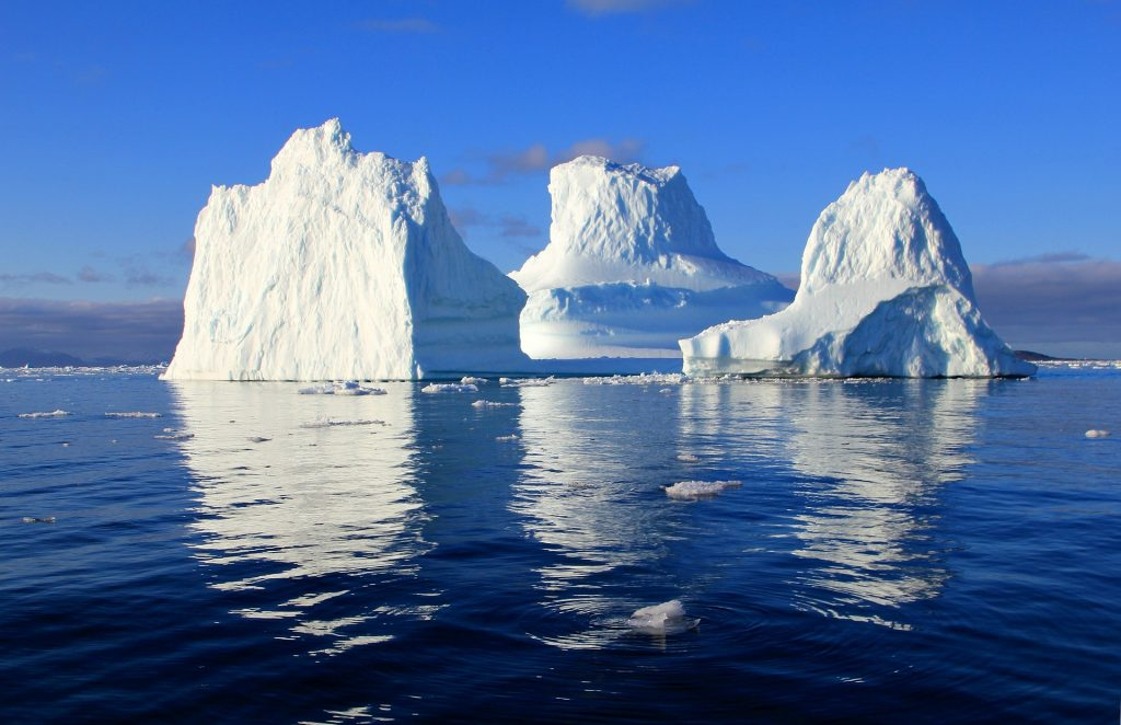 Iceberg during water scarcity