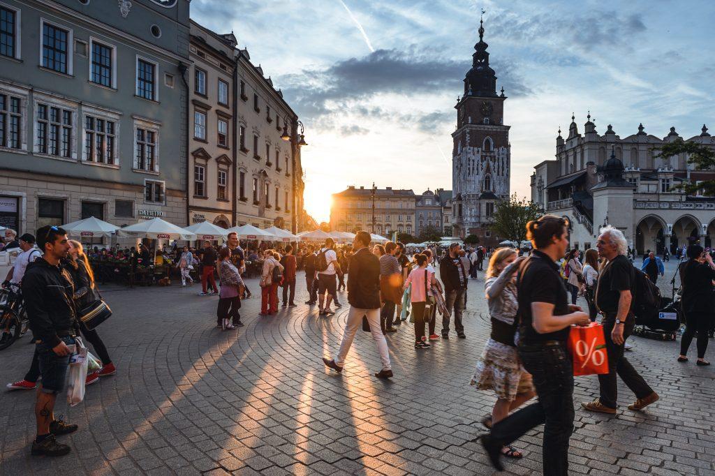 people walking on the street after coronavirus