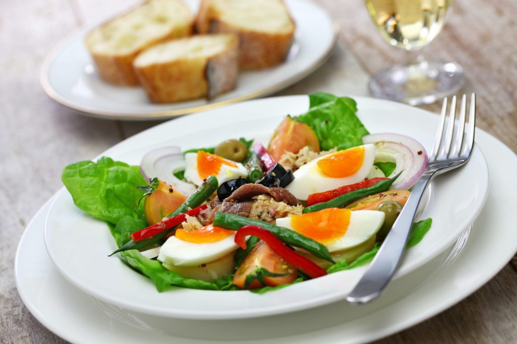 nicoise salad, french cuisine