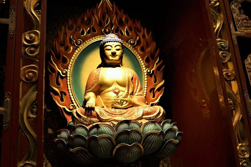 Gautam Buddha on a lotus