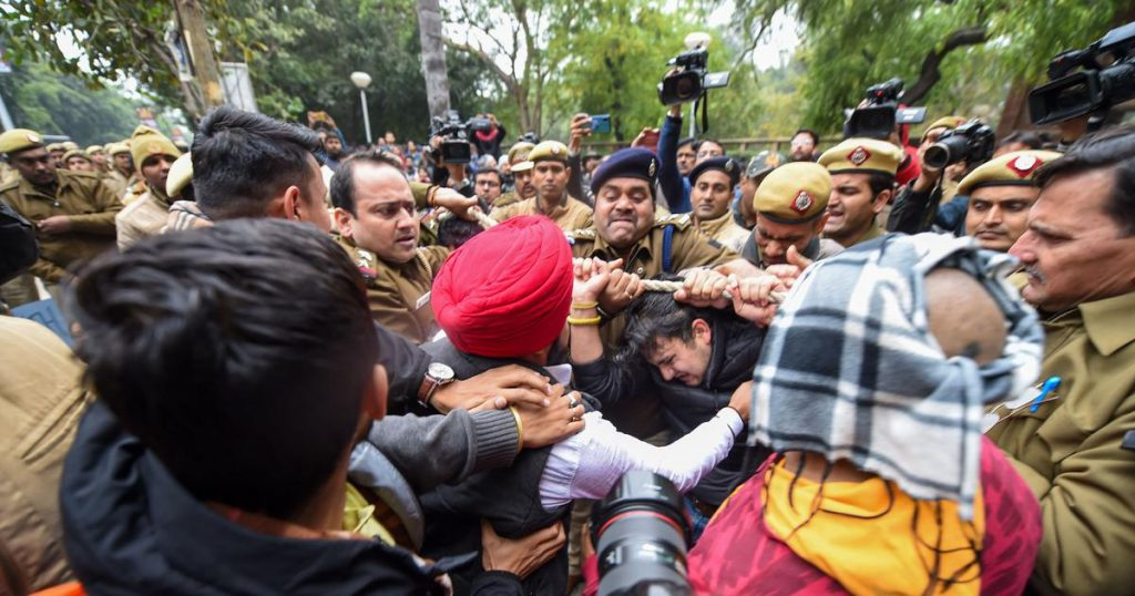 brutality during press conference and protest
