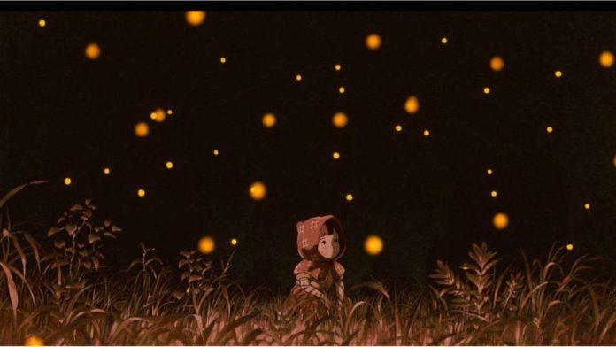 Setsuko with the fireflies