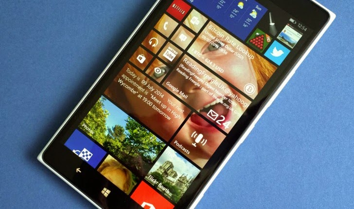 A sample preview of Windows Phone 8.1