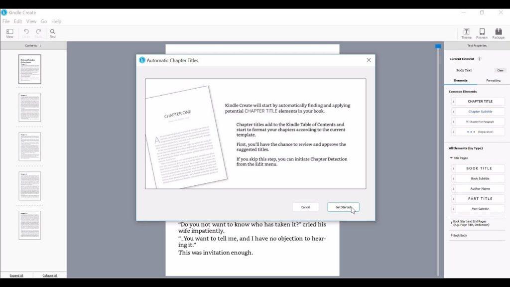 Kindle create for ebook