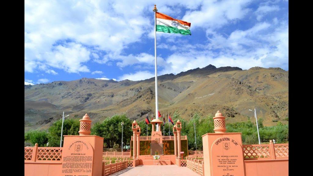 The Vijay War memorial is an important monument of Kargil Vijay Diwas