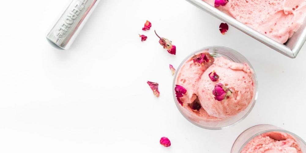 rose cashew flavored ice cream