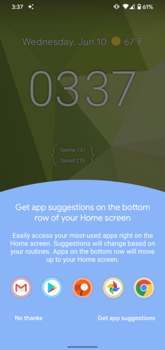 App suggestions
