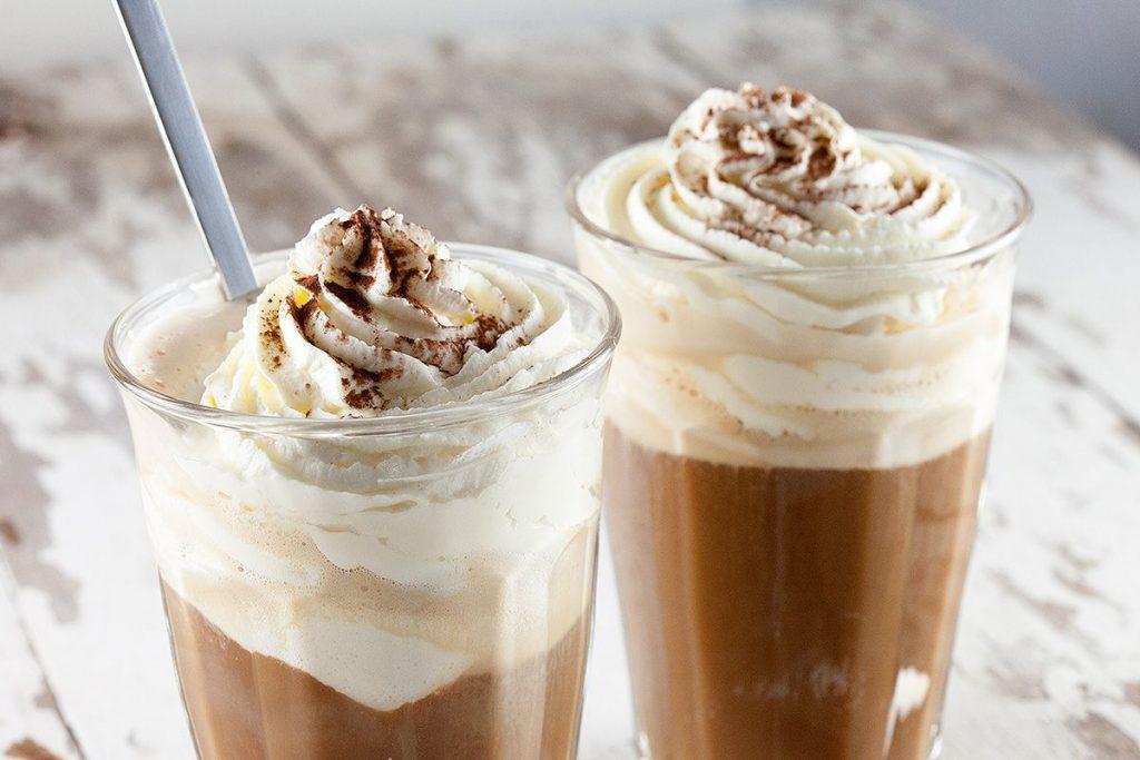 Chocolate vanilla cold coffee