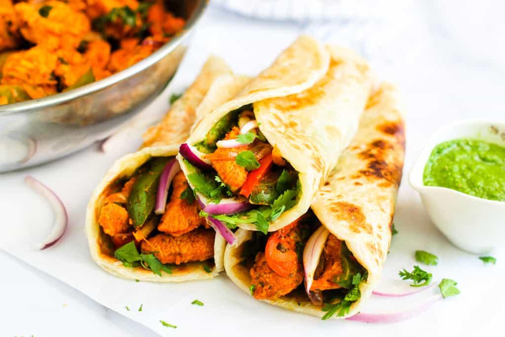 Chicken Khati Rolls