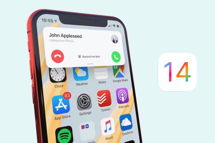 iOS 14 banner