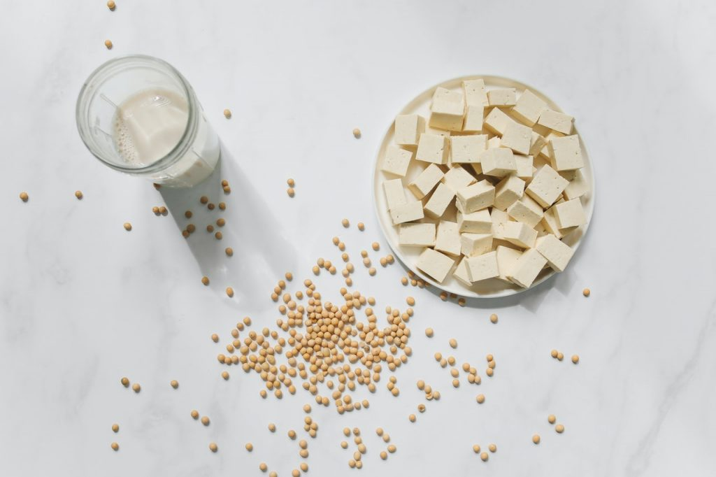 soy products, tofu and soy milk