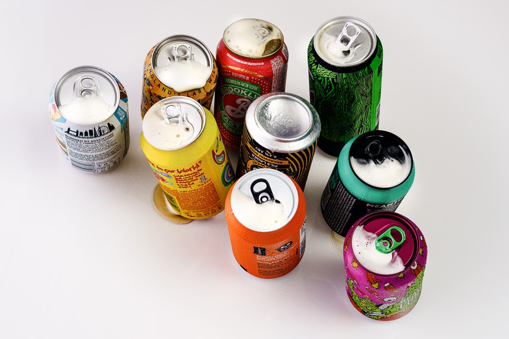 Soda and soft drinks cans