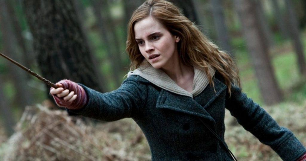 Emma Watson shooting for harry potter