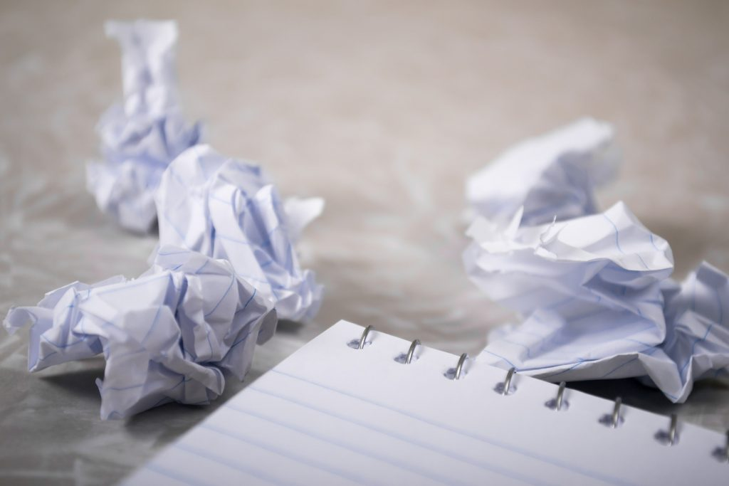 frustration with content writing