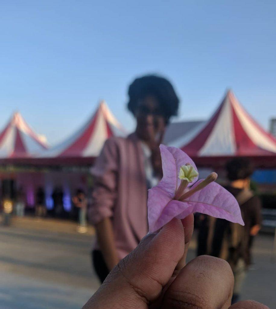 khyati with flower