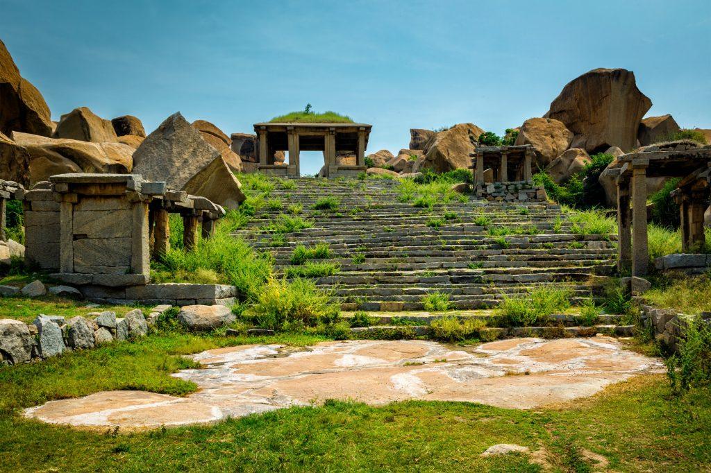 Ancient ruins in Hampi, India