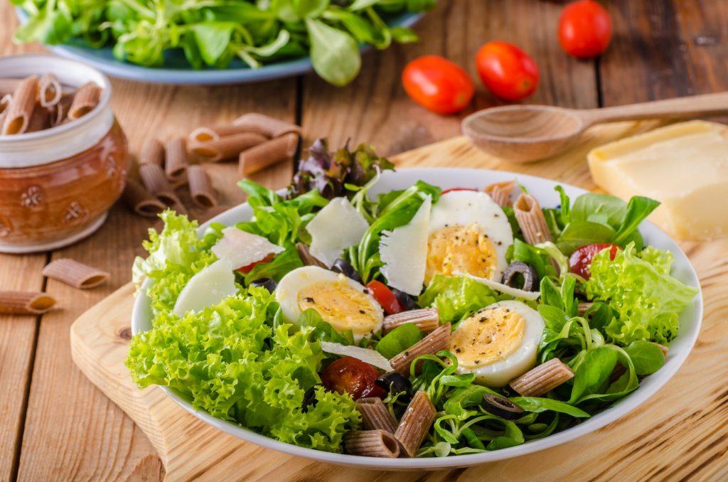 Fresh pasta egg salad
