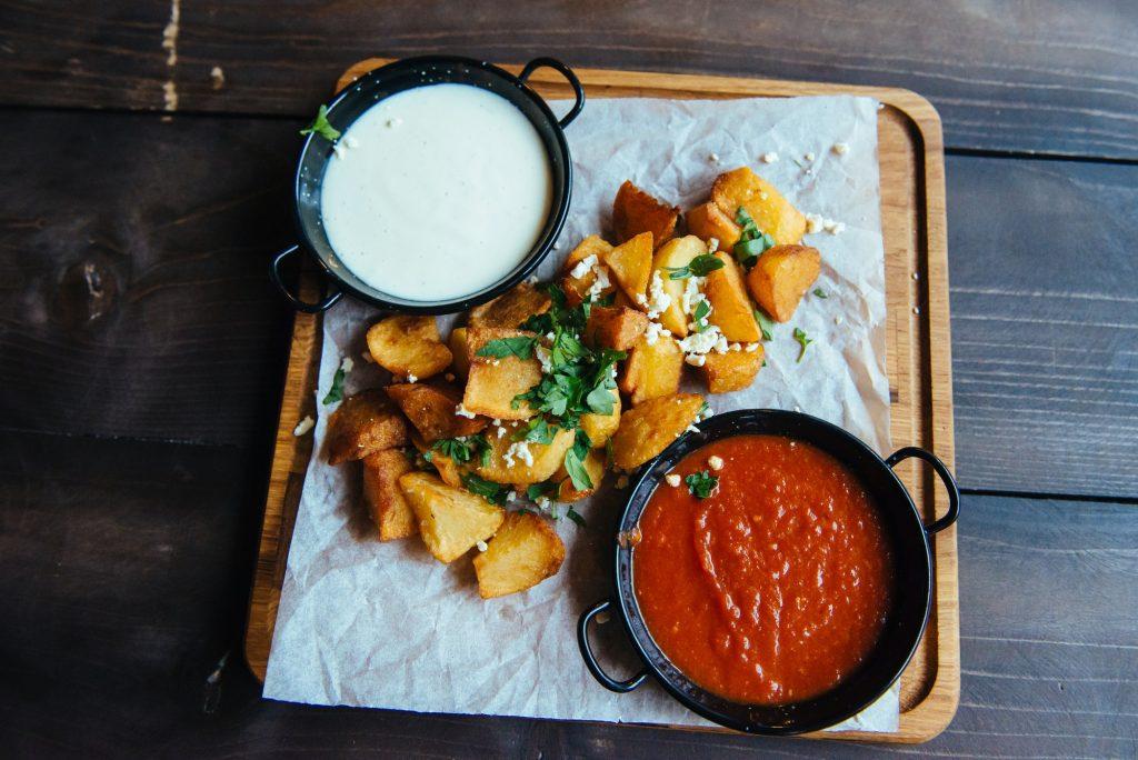 potatoes with sauce
