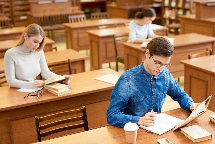 Reading Room in Modern University