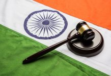 Indian Flag with Gavel